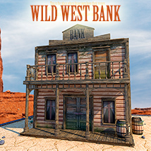 Wild West Bank 3D Models 1971s
