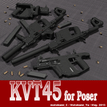 KVT45 for Poser 3D Models motokamishii