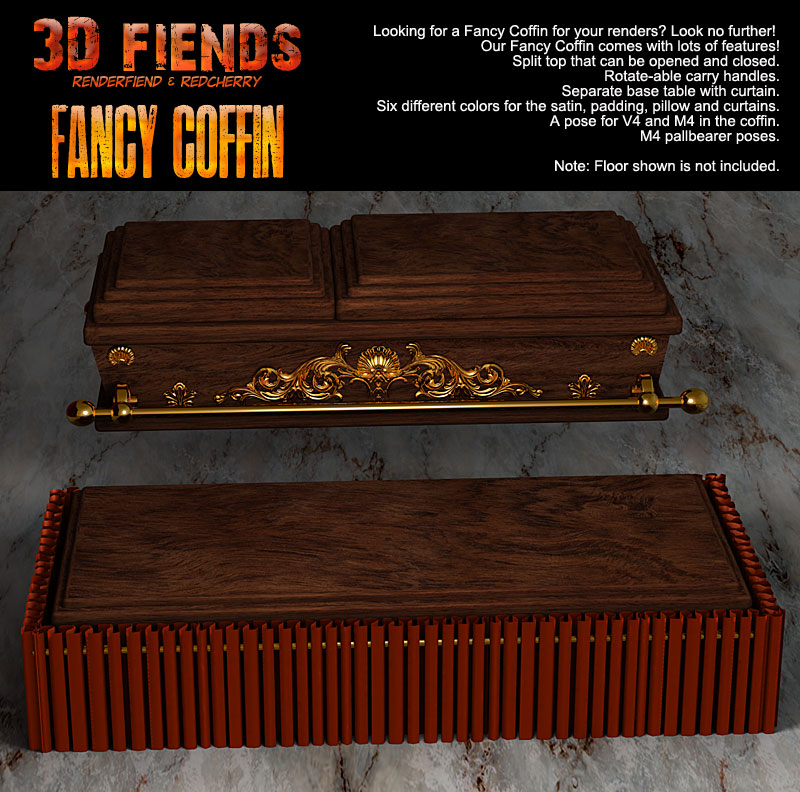 3D Fiends' Fancy Coffin