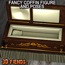 3D Fiends' Fancy Coffin 3D Models 3DFiends