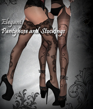Elegant Pantyhose and Stocking 3D Models 3D Figure Essentials Software Arrin