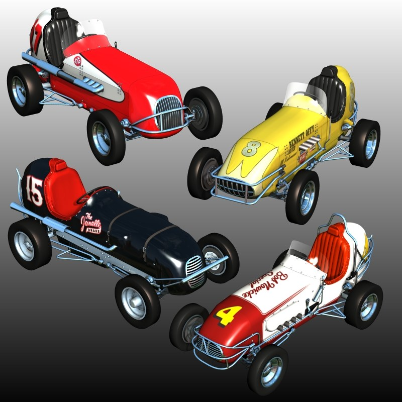 MIDGET RACE CARS BUNDLE (for Poser)