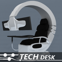Tech Desk 3D Models TruForm