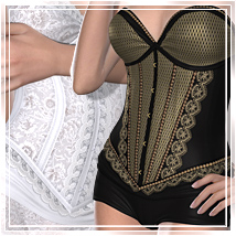 Selection for Corset Donna 3D Figure Assets 3D Models Romantic-3D