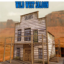 Wild West Saloon 3D Models 1971s