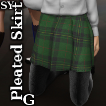 SY Pleated Skirt G 3D Figure Essentials SickleYield