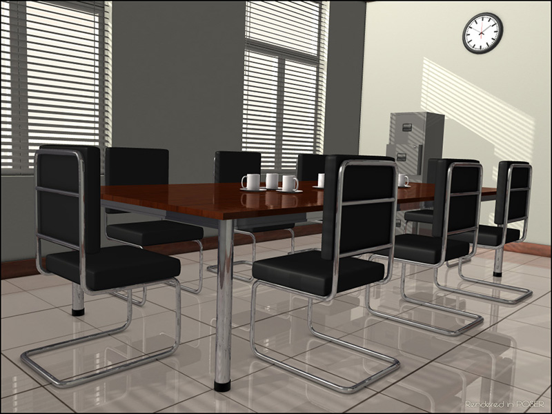 3D Assets: Meeting Room