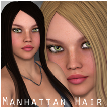 Manhattan Hair V4-A4-G4 3D Figure Assets nikisatez