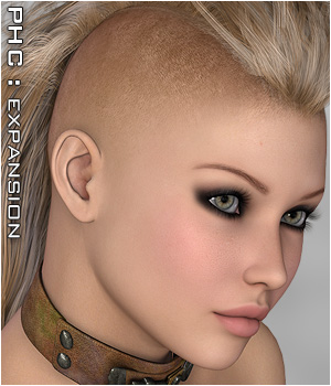 PHC : SAV Alpha Scalp Themed Hair P3D-Art
