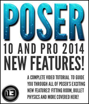 Poser 10 and Poser Pro 2014 New Features Tutorials : Learn 3D ironman13