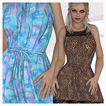 Essentials for Chiffon Dress 3D Figure Assets Belladzines