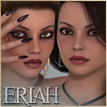 SASE Eriah for V4 and Genesis 3D Figure Essentials 3D Models Sabby