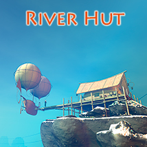 River Hut 3D Models 1971s