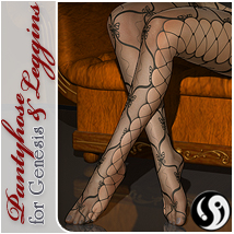 Pantyhose & Leggins for Genesis 3D Figure Assets CJ-studio