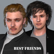 Best Friends for M4 3D Figure Assets Virtual_World