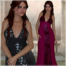 Uptown for Epiphany Gown 3D Models 3D Figure Essentials Artemis