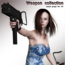 Weapon collection 3D Figure Assets 3D Models santuziy78