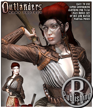 Outlanders: Mama Shotgun 3D Figure Assets 3D Models RPublishing