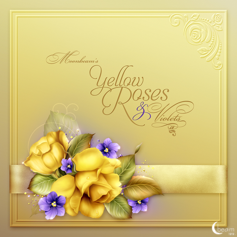 Moonbeam's Yellow Roses & Violets