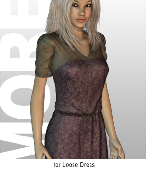 MORE Textures & Styles for Loose Dress 3D Figure Essentials 3D Models motif