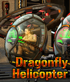 Dragonfly Helicopter Transportation Themed Cybertenko