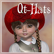 Qt-Hats  3D Figure Essentials Amaranth