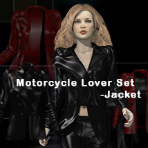 MotorcycleLoverSet_Jacket 3D Figure Essentials 2Fingers