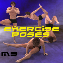 Farconville's Exercise Poses for Michael 5 3D Models 3D Figure Essentials farconville