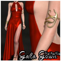 Gala Gown V4-A4-G4 3D Figure Essentials nikisatez
