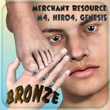 Merchant Resource - Bronze - for M4, Hiro 4, Genesis 2D 3D Figure Essentials _Fenrissa_
