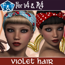 Violet Hair For V4 And A4 Hair Themed Software EmmaAndJordi
