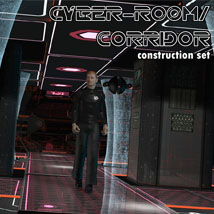 CyberCorridor Props/Scenes/Architecture Themed Software 3-d-c