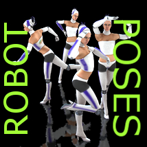 Farconville's Robot Poses for SVR-013 Robot Waitress 3D Models 3D Figure Essentials farconville