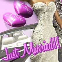 Just Married 3D Figure Assets 3D Models powerage