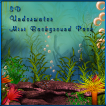 SD Underwater Mini Background Pack 2D And/Or Merchant Resources schonee