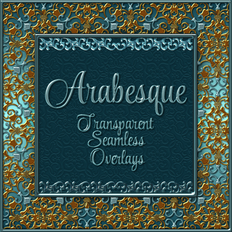 ARABESQUE Transparent Seamless Overlay Pack by fractalartist01