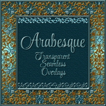 ARABESQUE Transparent Seamless Overlay Pack 2D And/Or Merchant Resources Themed fractalartist01