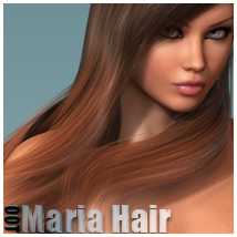 Maria Hair and OOT Hairblending 3D Figure Assets outoftouch