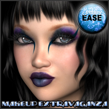 Overlay Ease Makeup Volume 1 3D Software : Poser : Daz Studio 3D Figure Assets Fugazi1968