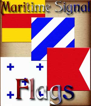 Harvest Moons Maritime Signal Flags 2D And/Or Merchant Resources Themed MOONWOLFII