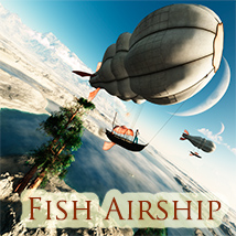 Fish Airship 3D Models 1971s