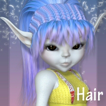 Toon Salon Hair Series-2 3D Figure Assets 3DTubeMagic
