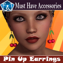 Pinup Earrings Accessories Software Themed EmmaAndJordi