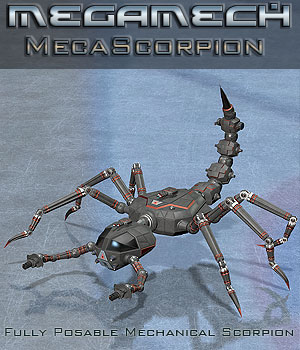MegaMech Scorpion Props/Scenes/Architecture Themed Stand Alone Figures Transportation Simon-3D