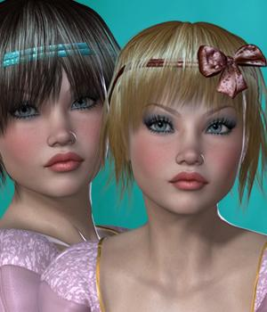 Suzuko Hair for V4 and G1 3D Figure Essentials SWAM
