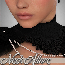 Neck Allure 3D Figure Assets 3D Models Silver