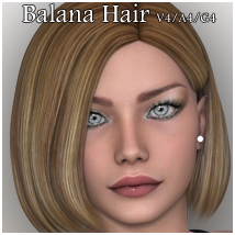 Balana Hair V4-A4-G4 3D Figure Essentials nikisatez