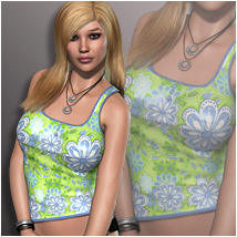 OziSentials: Tank Top for V4A4G4 3D Figure Assets 3D Models OziChick