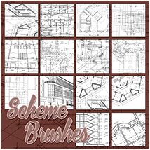 Scheme Brushes 2D And/Or Merchant Resources Atenais