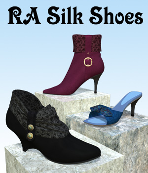 RA Silk Shoes 3D Figure Assets 3D Models RAGraphicDesign
